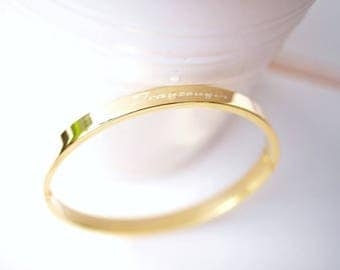 Bangle ~ maid of honor ~ small gold