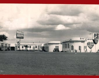 1950's Darling Courts Photographic Postcard Proof - New Mexico