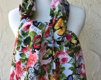 Beautiful butterfly bib, Dining Scarf, Adult Bib, Dignity Scarf for elderly, Protects clothes from drips & spills, BUY 3 GET 1 FREE