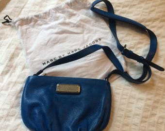 Brand New Marc Jacobs Blue Leather Side Bag