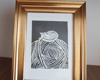 lino cut graphic black paint