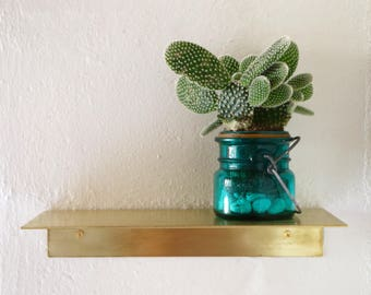 Phoenix Shelf - Floating Brass Shelf