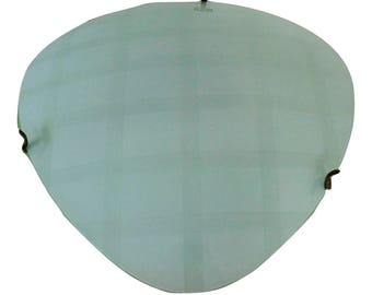 Ceiling or Wall lamp from the 50s with brass and glass in the style of a napako lamp