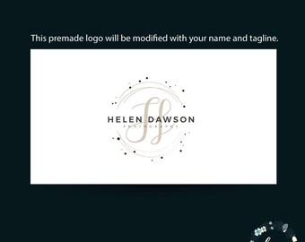 Premade Logo - Photography Custom logo - Custom Logo - Watercolor logo - Logo Design - Floral Logo - Photography Logo - Branding Logo - 021