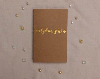 CUSTOM Gold Letter Journal