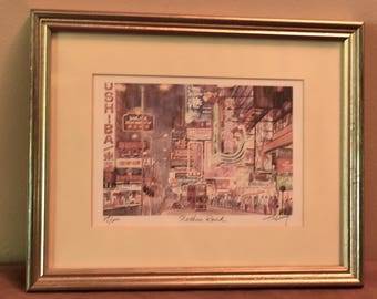 Tik Lung Numbered and Signed Etching of Nathan Road