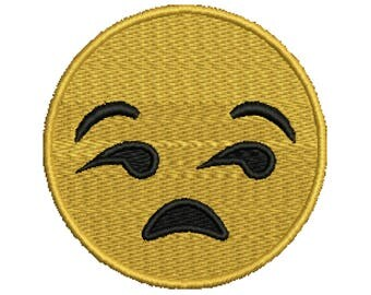"Iron On ""Unamused Face"" Patch"
