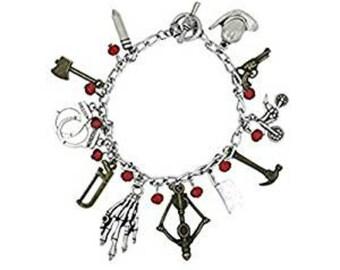 The Walking Dead Lobster Clasp Charm Bracelet in Gift Box