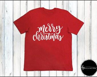 Ladies Holiday Shirt Merry Christmas Shirt Ladies Christmas Shirt Ladies Xmas shirt Women's Christmas Top Christmas Shirts Christmas Top