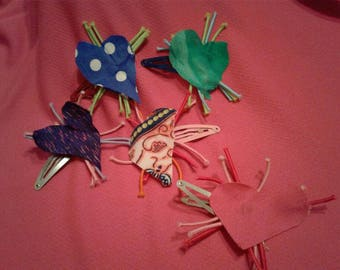 Heart Fabric Clips,