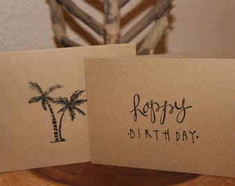 Take Me To The Palm Trees Birthday Card