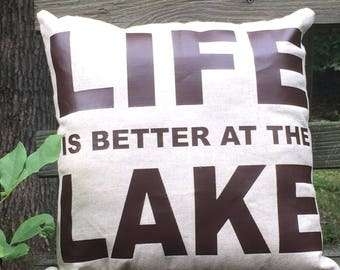 Life is Better at the Lake Throw Pillow Lake House Decor