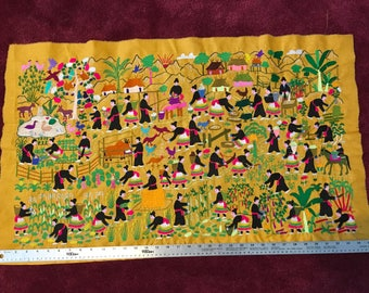 Hmong Hill Tribe story cloth
