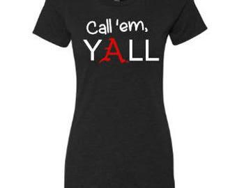 Call 'em Yall Arkansas Women's Tee