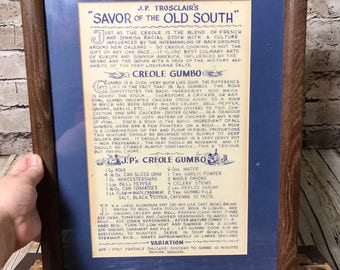 JP Trosclair's Savor Of The Old South Cajun Louisiana New Orleans Creole Gumbo