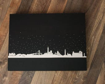 Wedding, Baby, Art Book with Custom Silver or Gold Foil Design on Album Box