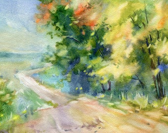 Landscape Watercolour Painting Q57
