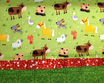 Farm animals pillowcase