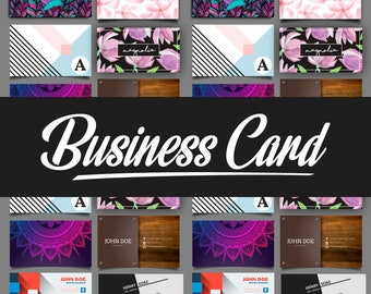 Business Card Design, Custom Business Card Single Side or Both Side