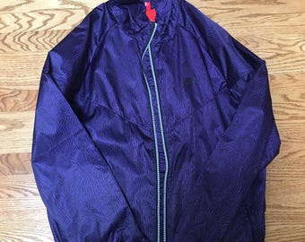 NWT Nike Windbreaker Purple Glow in the Dark 100% Polyester 2XL