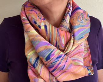 Artful and Bright Accent Infinity Scarf
