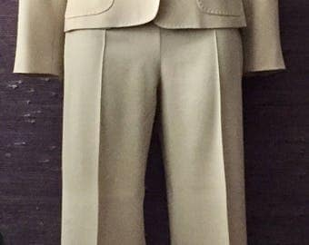 MAX MARA beige pant suit size small