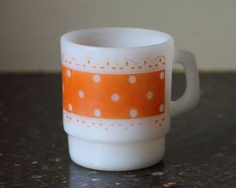 Fire-King Stacking Mug - Orange Print