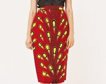 African Print Ankara Pencil skirts
