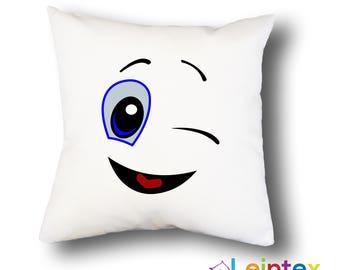 Pillowcase cushion cover 40x40 smiley No17