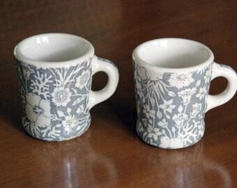Pair Of Rare WALLACE China Handled Mugs 1940's