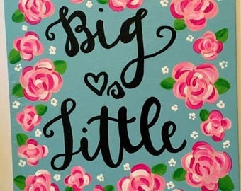 Sorority Canvas Big & Little Lilly Pulitzer Inspired