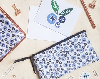Blueberry Pencil Case