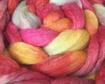 Spinning fiber, BFL/silk