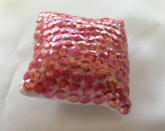 Handmade Decorative Pillow Sequins