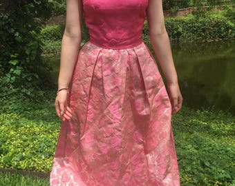 Pink 1950's Party Dress