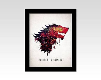 Game of Thrones inspired House Stark sigil mosaique effect print