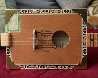 Handcrafted Musical Instrument, Cigar Box Ukulele