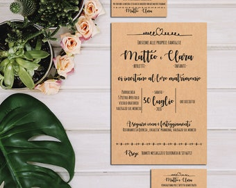invitation, wedding attendance-full wedding Suite-Kraft Simple