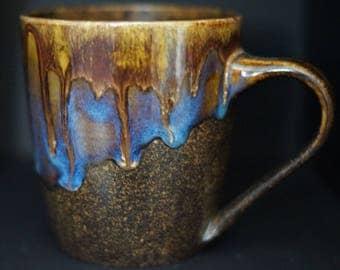 Coffee Mug - Tea cup - Hand Thrown Ceramic Mug - Lava - Stoneware Mug - Wheel Thrown - Handmade Mug - Pottery Mug