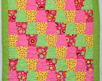 Pre-Cut Crib Quilt Kit Patrick Lose Fabric Precision Tumbler Precut Shapes.  Get sewing Rosie's Tumbling Garden Crib Quilt Faster!