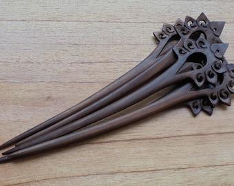 1 Prong Trident Wood Hair Sticks,Hair Pin, Hair Fork, Hair Accessories HS92