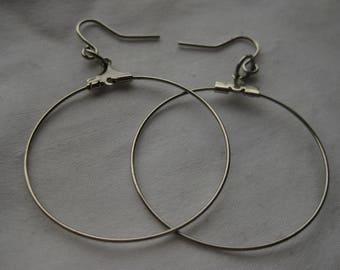dainty wire hoops earrings