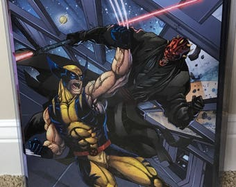 Wolverine vs Darth Maul Glossy Print