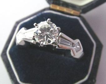 Vintage .84ct Diamond Ring in Platinum