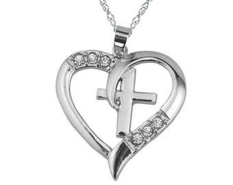 Cross in Heart Necklace