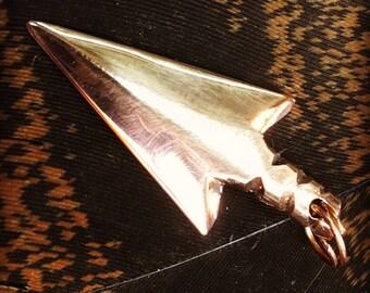 Handmade copper arrowhead pendant