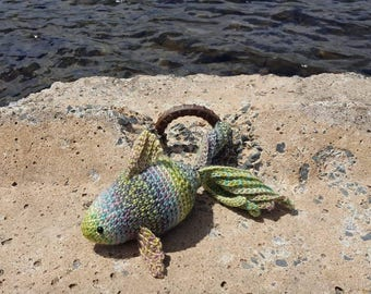 Handmade stuffed fish toy