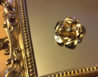 Vintage chanel camellia flower brooch