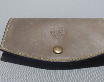 genuine leather sunglasses / reading glasses case HAND MADE