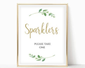 Printable Sparklers Please Take One Sign Sparklers Sign Wedding Sparklers Sign Fall Wedding Print Instant Download 8x10, 5x7, 4x6 Jasmine